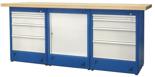00853705 Stół warsztatowy, 1 drzwi, 8 szuflad (wymiary: 2100x900x740 mm)