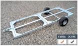 02938370 Wózek sadowniczy dwupaletowy W-2, wersja: ocynkowana (ładowność: 800 kg)