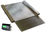 04049007 Waga najazdowa ze stali szlachetnej z legalizacją (nośność: 600 kg, podziałka: 200 g, wymiary: 1250x1250x45 mm)