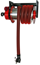 08549658 Odsysacz spalin, bęben odsysacza z napędem sprężynowym, zestawem wężowym, stoperem gumowym - bez ssawki, wentylatora i wyłącznika silnikowego ALAN-U/C-8-HD (długość węża: 8m, średnica: 200mm)