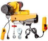 55951166 Wyciągarka linowa elektryczna Industrial 125/250 230V, hamulec automatyczny (udźwig: 125/250 kg) + wózek elektryczny 0,5T