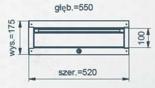 99551645 Szafka typ X, 1 szuflada (wymiary: 175x520x550 mm)