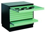 99551806 Szafa do przechowywania rysunków A1 0,8mm, 10 szuflad (wymiary: 770x970x670 mm)