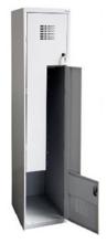 99551978 Szafka ubraniowa 0,5mm, 2 drzwi w kształcie L (wymiary: 1800x300x500 mm)