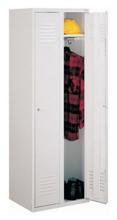 99552153 Szafka ubraniowa 0,8mm, zamek ryglujący drzwi w 3 punktach, 2 drzwi (wymiary: 1800x600x490 mm)