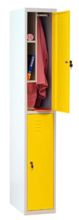 99552326 Szafa szkolna z półką wewnątrz, 2 drzwi, wersja standard (wymiary: 1800x300x490 mm)