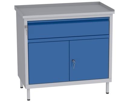 00142062 Szafka warsztatowa, 2 drzwi, 1 szuflada (wymiary: 850x900x505 mm)