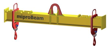 33948762 Trawers z regulowanymi hakami miproBeam TRR A-M 1,0 1500 (udźwig: 1 T, długość: 1500 mm)