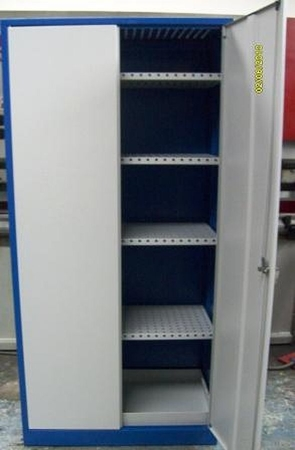 77157290 Szafa na chemikalia z wanną ociekową, 4 półki (wymiary: 1800x800x500 mm)
