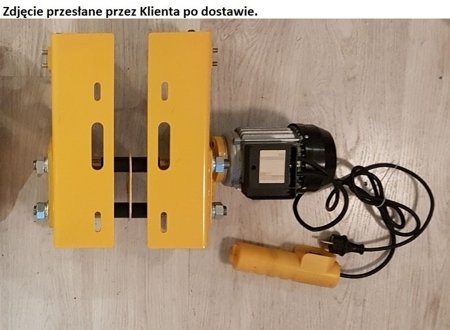 DOSTAWA GRATIS! 55968910 Wyciągarka linowa elektryczna Industrial 500/990 230V, hamulec automatyczny (udźwig: 500/990 kg)  stare 1200 kg + wózek elektryczny 1T - szerokość belki dwuteownika do 220mm Bez UDT!!!