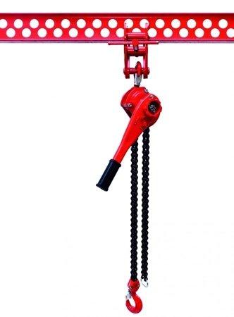 DOSTAWA GRATIS! 9588182 Wciągnik łańcuchowy dźwigniowy, rukcug, łańcuch Galla (udźwig: 6,0 T)