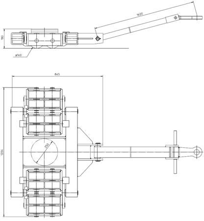 DOSTAWA GRATIS! 4994003 Podwozie transportowe (nośność: 40T)