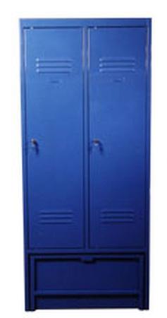 DOSTAWA GRATIS! 77157026 Szafa odzieżowa z przegrodami i ławką chowaną, 2 drzwi (wymiary: 1900x800x480 mm)