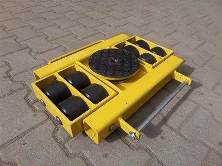 DOSTAWA GRATIS! 12267436 Wózek skrętny z otworem fi 21 w płycie nośnej, 8 rolkowy, rolki: 8x stal (nośność: 12 T)