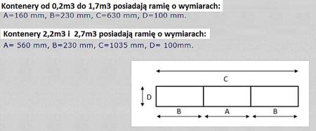 DOSTAWA GRATIS! 35960466 Kontener samowyładowczy z wysoką pokrywą do wózka widłowego (metry sześcienne: 1,7 m3, pojemność: 1350 L)