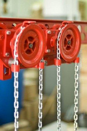 DOSTAWA GRATIS! 9588166 Wózek szynowy do wciągników stacjonarnych (udźwig: 2,5 T, zakres toru jezdnego: 98-143 mm)