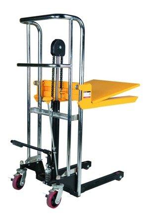99724817 Wózek paletowy/platformowy podnośnikowy GermanTech PL-1100 HST (max wysokość: 85-1200 mm, udźwig: 400 kg, długość wideł: 650 mm)