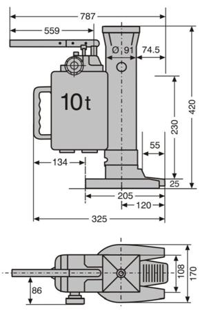 DOSTAWA GRATIS! 0301347 Podnośnik hydrauliczny maszynowy (udźwig: 10 T)