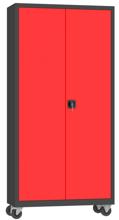 00150627 Szafa narzędziowa na kółkach, 2 drzwi (wymiary: 1950 + koła x1000x500 mm)