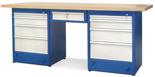 00853699 Stół warsztatowy, 9 szuflad (wymiary: 2100x900x740 mm)