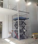 01860251 Podnośnik, podest nożycowy (udźwig: 2000 kg, wymiary platformy: 2250x1500mm, wysokość podnoszenia min/max: 750-4750 mm, moc: 2,3kW)