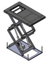 01872924 Podnośnik, podest nożycowy (udźwig: 500 kg, wymiary platformy: 2200x1200mm, wysokość podnoszenia min/max: 530-800 mm, moc: 2,3kW)