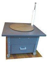 91059981 Stół do pakowania paczek na kółkach, 1 szuflada (blat: 100x100 cm, wys: 76 cm)