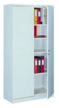 99551695 Szafa biurowa 1,0mm, 2 drzwi, 4 półki, skrytka (wymiary: 1990x1000x435 mm)