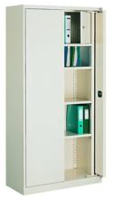 99551700 Szafa biurowa 1,0mm, 2 drzwi, 4 półki, skrytka (wymiary: 1990x1000x435 mm)