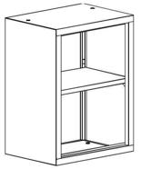 99551726 Nadstawka do regału zamkniętego, 1 półka (wymiary: 810x1000x435 mm)