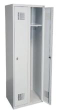 99551926 Szafka ubraniowa 0,5mm, 2 drzwi, zamek cylindryczny zamykany w 1 punkcie (wymiary: 1800x600x500 mm)