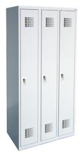 99551948 Szafka ubraniowa 0,5mm, 3 drzwi, zamek cylindryczny zamykany w 3 punktach (wymiary: 1800x1200x500 mm)