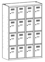 99552028 Szafka ze schowkami 0,5mm, 16 drzwi (wymiary: 1800x1200x500 mm)