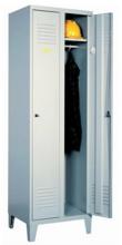 99552155 Szafka ubraniowa 0,8mm na nóżkach, zamek ryglujący drzwi w 3 punktach, 2 drzwi (wymiary: 1940x600x490 mm)