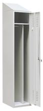 99552192 Szafka ubraniowa ze skośnym daszkiem 0,8mm, zamek na kłódkę, 1 drzwi (wymiary: 2000x400x490 mm)