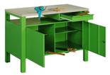 99552441 Stół warsztatowy, 2 drzwi, 1 szuflada (wymiary: 850x1200x600 mm)