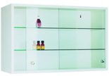 99552561 Szafka wisząca, 2 półki, drzwi przesuwne (wymiary: 500x1000x250 mm)