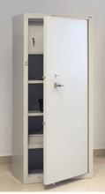 99552601 Szafa - wzmocniona, 3 półki, 1 drzwi, 1 skarbczyk (wymiary: 1800x800x500 mm)