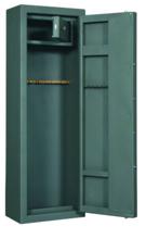 99552697 Szafa na broń i amunicję do przechowywania broni długiej, 1 drzwi, 1 skarbczyk (wymiary: 1500x500x300 mm)