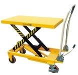 DOSTAWA GRATIS! 00546098 Wózek paletowy stołowy (udźwig: 500 kg, wymiary platformy: 850x500 mm, wysokość podnoszenia min/max: 285-880 mm)