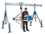 DOSTAWA GRATIS! 03066243 Wciągarka bramowa aluminiowa (szerokość całkowita regulowana: 7100mm, wysokość całkowita regulowana: 2700–4400mm, udźwig suwnicy: 1000 kg)