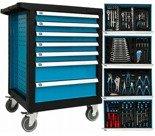 DOSTAWA GRATIS! 16069998 Wózek, szafka narzędziowa, 7+1 szuflad + klucze (wymiary: 970x840x460 mm)