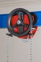 DOSTAWA GRATIS! 22039006 Wózek jedno-belkowy z napędem ręcznym Z420-B/5.0t/4m (wysokość podnoszenia: 4m, szerokość dwuteownika od: 113-220mm, udźwig: 5 T)