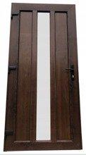 DOSTAWA GRATIS! 26271894 Drzwi zewnętrzne wejściowe (kolor: orzech, strona: lewa, szerokość: 100 cm)