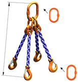 DOSTAWA GRATIS! 33948238 Zawiesie łańcuchowe czterocięgnowe klasy 10 miproSling AS 14,0/10,0 (długość łańcucha: 1m, udźwig: 10-14 T, średnica łańcucha: 13 mm, wymiary ogniwa: 200x110 mm)