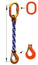DOSTAWA GRATIS! 33948243 Zawiesie łańcuchowe jednocięgnowe klasy 10 miproSling KHSW 19 (długość łańcucha: 1m, udźwig: 19 T, średnica łańcucha: 22 mm, wymiary ogniwa: 260x140 mm)