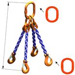 DOSTAWA GRATIS! 33948295 Zawiesie łańcuchowe czterocięgnowe klasy 10 miproSling A8W 21,2/15,0 (długość łańcucha: 1m, udźwig: 15-21,2 T, średnica łańcucha: 16 mm, wymiary ogniwa: 260x140 mm)