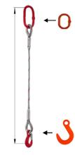 DOSTAWA GRATIS! 33948342 Zawiesie linowe jednocięgnowe miproSling FW 11,00 (długość liny: 1m, udźwig: 11 T, średnica liny: 32 mm, wymiary ogniwa: 230x130 mm)