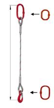 DOSTAWA GRATIS! 33948351 Zawiesie linowe jednocięgnowe miproSling T 17,00 (długość liny: 1m, udźwig: 17 T, średnica liny: 40 mm, wymiary ogniwa: 275x150 mm)