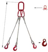 DOSTAWA GRATIS! 33948408 Zawiesie linowe trzycięgnowe miproSling HE 18,0/12,5 (długość liny: 1m, udźwig: 12,5-18 T, średnica liny: 28 mm, wymiary ogniwa: 275x150 mm)
